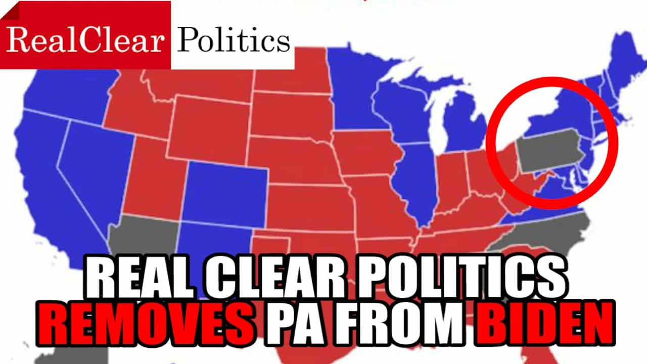 Real Clear Politics REMOVED PA from Biden Election Results