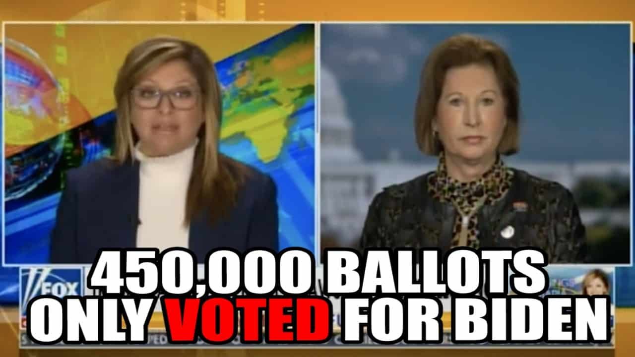450,000 Ballots ONLY Voted for Biden!